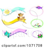 Clipart Animal And Insect Banners And Frames Royalty Free Vector Illustration by bpearth