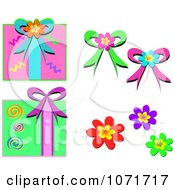 Gift Boxes Flowers And Bows