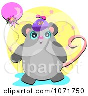 Chubby Birthday Mouse Wearing A Hat