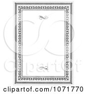 Clipart Grayscale Certificate Frame Invitation With Copyspace 2 Royalty Free Vector Illustration
