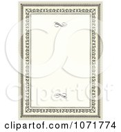 Clipart Aged Certificate Frame Invitation With Copyspace Royalty Free Vector Illustration