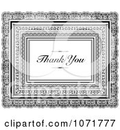Clipart Black And White Frames And Thank You Text Royalty Free Vector Illustration