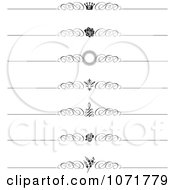 Clipart Black And White Swirl Vintage Rule Borders 1 Royalty Free Vector Illustration