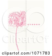 Clipart Pink Lilac And Off White Floral Invitation With Copyspace Royalty Free Vector Illustration