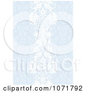Clipart Blue Damask Floral Invitation Background Royalty Free Vector Illustration