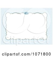 Clipart Blue And White Invitation Background With Copyspace Royalty Free Vector Illustration