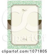 Clipart Green And Brown Floral Invitation With Copyspace 2 Royalty Free Vector Illustration
