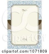 Clipart Blue And Brown Floral Invitation With Copyspace 2 Royalty Free Vector Illustration