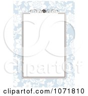 Clipart Blue And Brown Floral Invitation With Copyspace 1 Royalty Free Vector Illustration
