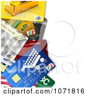 Clipart 3d Credit Cards With Copyspace Royalty Free CGI Illustration by stockillustrations