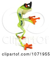 Clipart 3d Argie Frog Wearing Sunglasses And Dancing 2 Royalty Free CGI Illustration