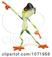 Clipart 3d Argie Frog Wearing Sunglasses And Dancing 4 Royalty Free CGI Illustration
