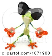 Clipart 3d Argie Frog Wearing Sunglasses And Dancing 3 Royalty Free CGI Illustration