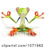 Clipart 3d Argie Frog Meditating In The Lotus Position Royalty Free CGI Illustration