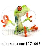 Clipart 3d Argie Frog Meditating In The Lotus Pose Royalty Free CGI Illustration