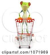 3d Argie Frog Pushing A Shopping Cart 3