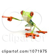 Clipart 3d Argie Frog Pointing To The Left Royalty Free CGI Illustration by Julos