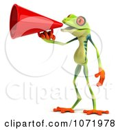Clipart 3d Argie Frog Announcing With A Megaphone 1 Royalty Free CGI Illustration by Julos
