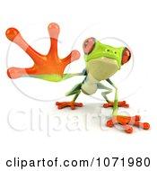 3d Argie Frog Reaching Outwards