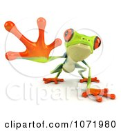 Clipart 3d Argie Frog Reaching Outwards Royalty Free CGI Illustration by Julos