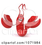 Clipart 3d Happy Red Lobster 1 Royalty Free CGI Illustration