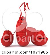 Clipart 3d Happy Red Lobster 2 Royalty Free CGI Illustration by Julos