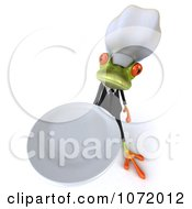 Clipart 3d Chef Springer Frog Holding A Plate 2 Royalty Free CGI Illustration