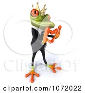 Clipart 3d Business Springer Frog Prince With A Love Gesture Royalty Free CGI Illustration