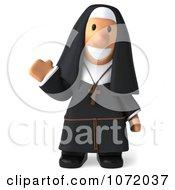 3d Nun Waving