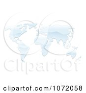 Clipart 3d World Atlas Map Of Water Royalty Free Vector Illustration