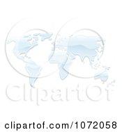 Clipart 3d World Atlas Map Of Water Royalty Free Vector Illustration by AtStockIllustration