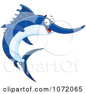 Happy Blue Swordfish