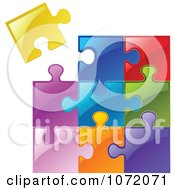 Poster, Art Print Of 3d Colorful Jigsaw Puzzle Of Diverse Pieces