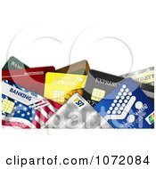 Clipart 3d Colorful Credit And Debit Cards With Copyspace Royalty Free CGI Illustration by stockillustrations