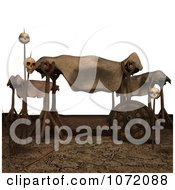 Clipart 3d Sacrificed Bodies And Skulls Royalty Free CGI Illustration by Ralf61