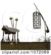 Clipart 3d Cage And Dead Body With Skulls Royalty Free CGI Illustration by Ralf61