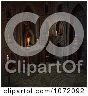 Clipart 3d Witchcraft Interior With A Pentagram On The Floor Royalty Free CGI Illustration by Ralf61