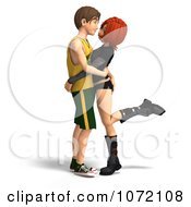 Clipart 3d Teen Couple Embracing Royalty Free CGI Illustration