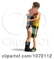 Clipart 3d Sad Teen Couple Embracing 1 Royalty Free CGI Illustration