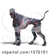 Clipart 3d Burning Devil Alien Hell Hound Dog Royalty Free CGI Illustration by Ralf61