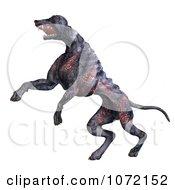 Clipart 3d Burning Devil Alien Hell Hound Dog Jumping 1 Royalty Free CGI Illustration by Ralf61