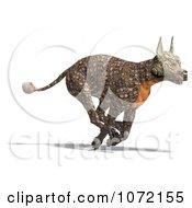 Clipart 3d Reptilian Alien Dog Running Royalty Free CGI Illustration by Ralf61