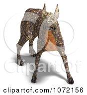 Clipart 3d Reptilian Alien Dog Royalty Free CGI Illustration by Ralf61