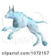 Clipart 3d Blue Alien Dog Jumping 1 Royalty Free CGI Illustration by Ralf61