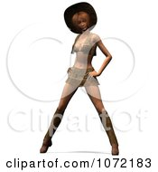 Clipart 3d Sexy Western Woman Standing In A Mini Skirt Royalty Free CGI Illustration