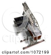 Clipart 3d Industrial Crane And Charger 5 Royalty Free CGI Illustration by Ralf61