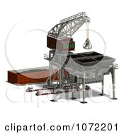 Clipart 3d Industrial Crane And Charger 2 Royalty Free CGI Illustration