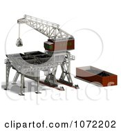 Clipart 3d Industrial Crane And Charger 3 Royalty Free CGI Illustration by Ralf61