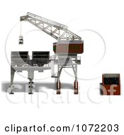 Clipart 3d Industrial Crane And Charger 4 Royalty Free CGI Illustration