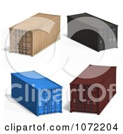 Clipart 3d Cargo Containers 1 Royalty Free CGI Illustration by Ralf61